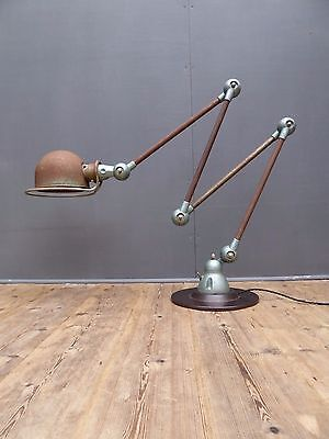 Stunning Vintage Antique Industrial 1950's Jielde Floor Table Lamp Light Patina