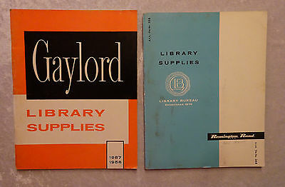 Vintage 1958 Gaylord Remington Rand Library Supply Catalogs Lot of 2