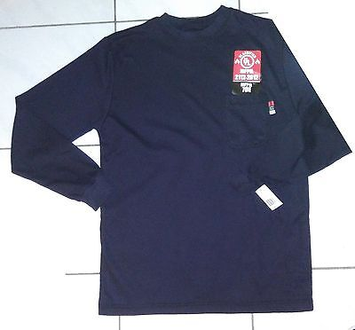 Walls Flame Fr Flame Resistant  Long Sleeve Shirt  2XL Dark Blue New w/ Tags
