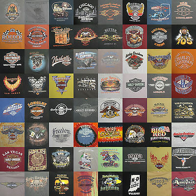 Large Lot of Harley Davidson Motorcycle T-Shirts S M L XL 2XL Various Locations