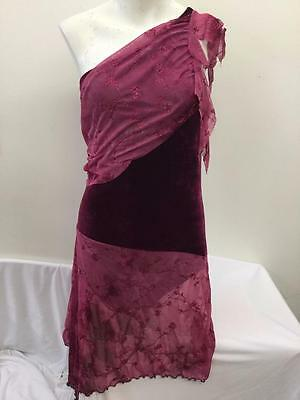 Dance Costume Extra Large Adult Burgundy Dress Lyrical Ballet Solo Competition