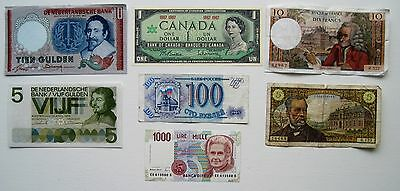 Lot of Old Foreign Currency Notes