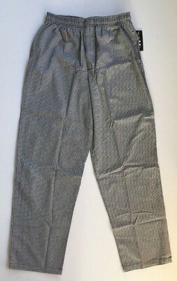 Chef REVIVAL Black And White Houndstooth Chef Pants XL NEW