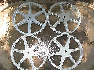 "Lot of 4 Used 7"" Metal 16mm Film Reels FREE SHIPPING"