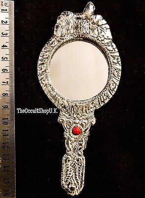 Scrying Mirror Victorian Antique  Vanity Artisan Wicca Gothic Magic Witch Spells