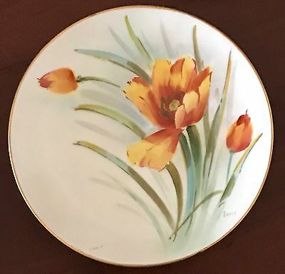 "Vintage Hand Painted China Bavaria 6"" Plate, Signed"