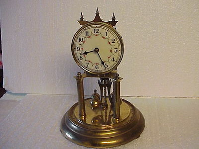 Vintage Forestville Clock Co Wind Up Anniversary Clock for parts repair B
