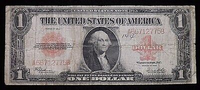 1923 Red Seal $1 Dollar United States Paper Note  Circulated