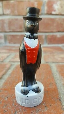 Vintage Old Crow Penguin Promotional Whisky Bottle Topper