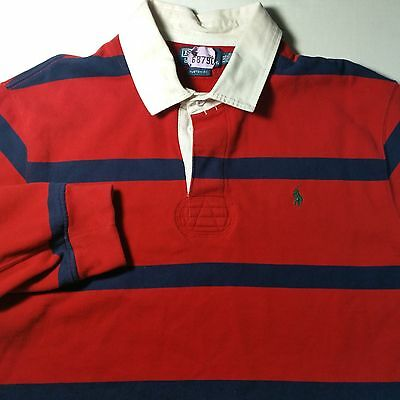 Polo Ralph Lauren Custom Fit Rugby Red Striped 2XL XXL