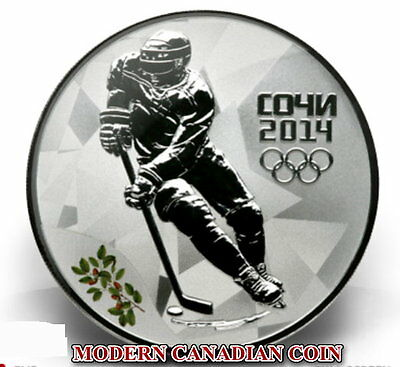 Russia 3 R.- 3 Sterling Silver Coins- Sochi 2014:ice Hockey- Figure Skating-Luge