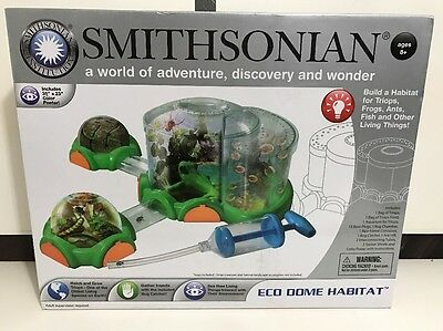 NEW Smithsonian Eco Dome Habitat with Triops Bug Chamber Ants Learning