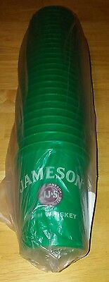 Jameson Irish Whiskey Sleeve Of 25 Plastic Cups. Brand New.