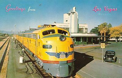 LAS VEGAS, NV Nevada  UNION PACIFIC STREAMLINER  Railroad-Train c1940's Postcard