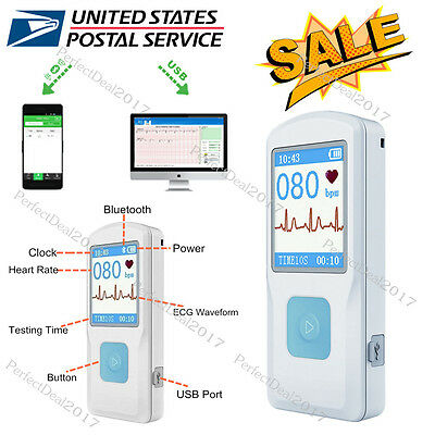 Portable ECG Monitor PM10 with Bluetooth, Heart Beat Monitor, US Seller, FDA