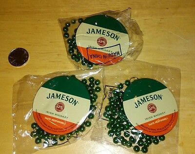Jameson Irish Whiskey Party Bead Necklaces Set Of Three Brand New.