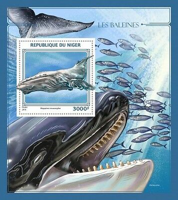 Z08 IMPERFORATED NIG16424b NIGER 2016 Whales MNH