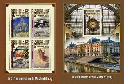 Z08 CA16309ab CENTRAL AFRICA 2016 Orsay museum MNH Set