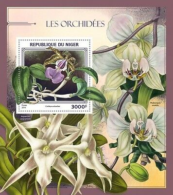 Z08 IMPERFORATED NIG16417b NIGER 2016 Orchids MNH