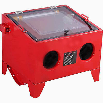 Bench Sandblaster Sand Grit Blasting Sandblasting Cabinet 90L Option Glass Beads