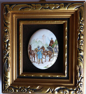 Hand Made Enamel On Copper P.g. Collins Miniature Picture
