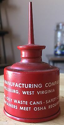 Vtg Eagle Manufacturing Small Thumb Oiler Can Wellsburg West Virginia Rare NOS
