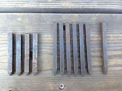 Mixed Lot of Vintage Steel Number Punches ~ Vintage Steel Punch Set