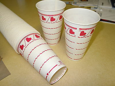 "Full Box Of New-Old-Stock ""sweetheart"" Wax Soda Fountain Drinking Cups"