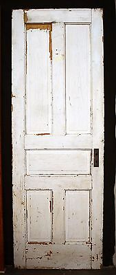 "28""x80"" Antique Vintage Victorian Solid Wood Wooden Interior Closet Pantry Door"