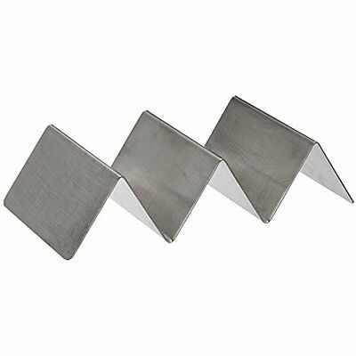 New Winco TCHS-23 2-3 Compartments Stainless Steel Taco Holder