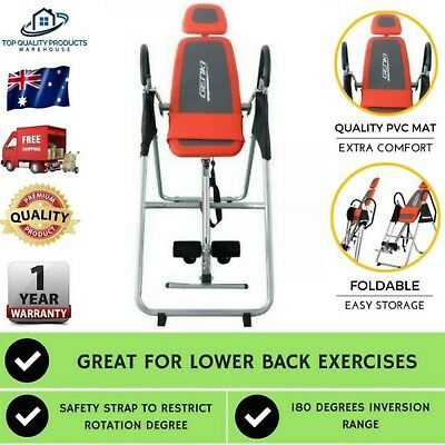 Fitness Inversion Table Folding Upside Down Gravity Back Pain Home Gym Workout