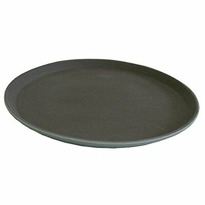 New Winco Easy Hold Round Tray, 14-Inch, Black