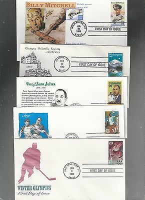 Us Fdc  First Day Cover Collection Lot Of 25 From  1990 To 1999