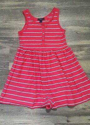 Gap Kids Girl's Spring Summer Striped 1-Piece Romper Outfit Size 6 7