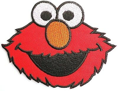 """ELMO Iron On Sew On Cartoon Kids Fun Muppets Embroidered Badge Patch 3.4"""""""