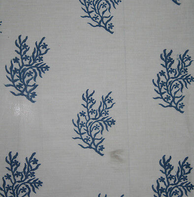 Indian women Hand block print 100% cotton fabric by 10 yard