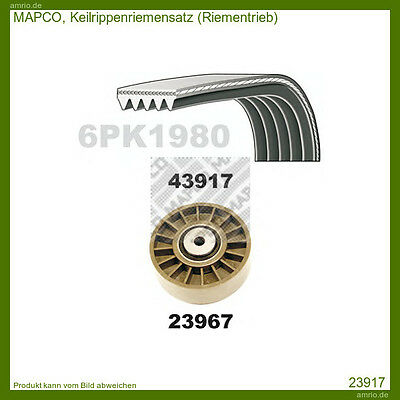 23917 Mapco V-Ribbed Belt Set