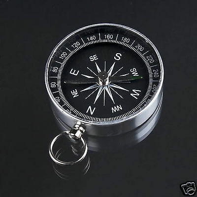 Pocket Mini Compass Keyring Outdoor Navigator Survival Tool For Climbing Hiking