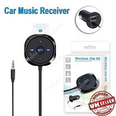 3.5mm Wireless Car AUX Bluetooth Adapter Audio Stereo Music Receiver+USB Charger