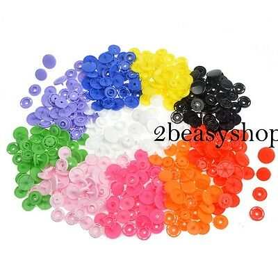 100 Sets KAM Size 24/T8 Plastic Resin Snaps Fasteners Poppers For Duvet Coats AU