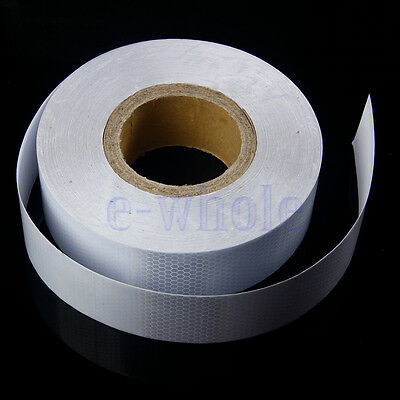 1M * 5CM Reflective Safety Warning Conspicuity roll Tape Stickers White  EW