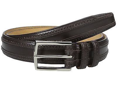 Cole Haan Men's Belt Perforated Leather In Dark Brown Size 38 Brand New W/Tags