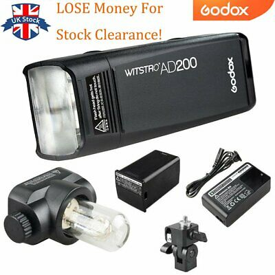 UK In stock Godox AD200 TTL HSS  2.4G 1/8000 Wireless Pocket Double Head Flash