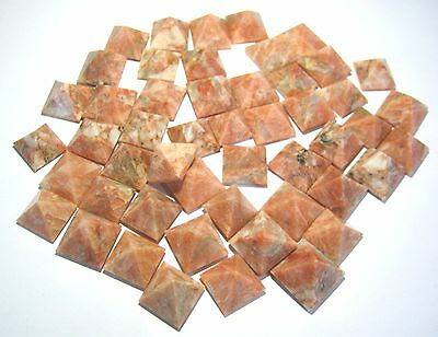Lot Of 50 Red Moonstone Feng Shui Bagua Pyramids Crystal Healing Gift Reiki