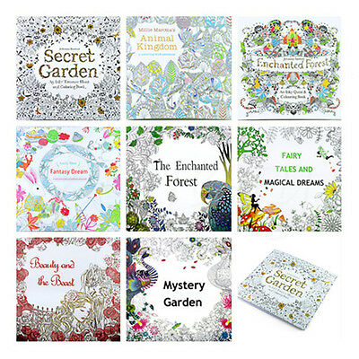 Secret Garden Series Adult Children Color Painting Book Gifts Colored pencil