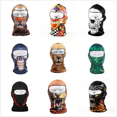 3D Motorcycle Balaclava Neck Winter Ski Bike Cycling Full Face Mask Caps Covers