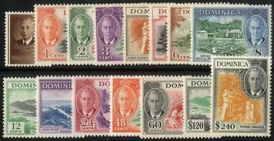 Dominica SG 120-34/CW 16-31 1951 set of fifteen