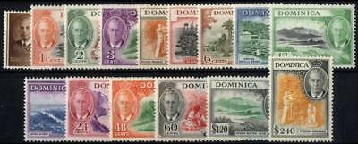 Dominica SG 120-34/CW 16-31 1951 set of 15