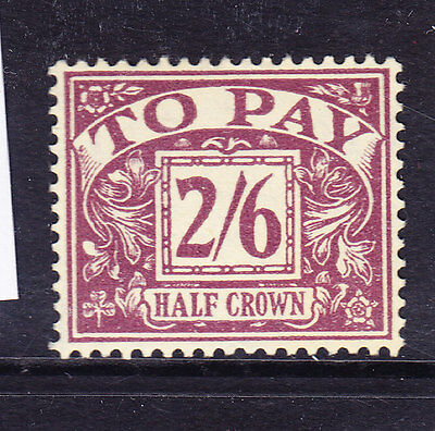 GB QEII Postage Due SGD54 2/6 purple on yellow wmk 165 very lightly m/m cat £200