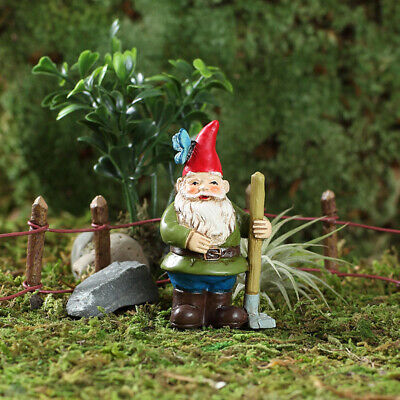 "2.75"" My Fairy Gardens Mini Figure Pick - Gnorman the Butterfly Gnome Figurine"